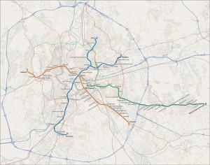 Mapa metra v Římě
