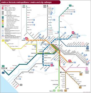 Plánek metra Řím