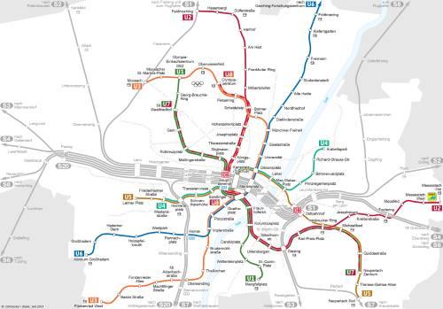 Mapa metra Mnichov (pro zvětšení klikni)