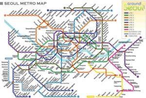 Mapa metra Soul (pro zvětšení klikni)