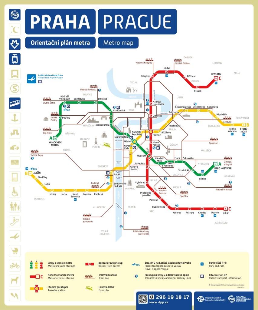 Metro Praha mapa a plán