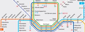 Mapa metra Oslo