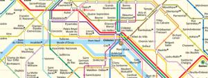 Paříž metro mapa