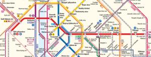 Mapa metra Budapešť