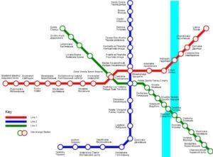 Mapa metra Kyjev (klikni pro zvětšení)