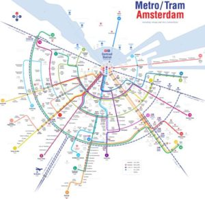 Mapa metra Amsterdam (pro zobrazení ve velkém formátu klikni)