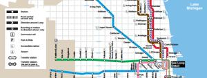mapa metra chicago
