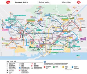 Mapa metra v Barceloně