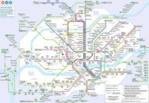 Mapa metra Frankfurt (klikni pro zvětšení)
