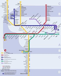 Mapa metra Valencie (klikni zde pro zvětšení)
