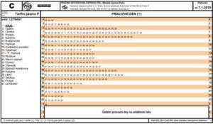 Jízdní řád stanice Háje (pro zobrazení ve velkém formátu klikni zde)