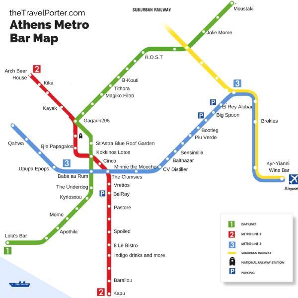 Mapa metra Athény (klikni pro zvětšení mapy)
