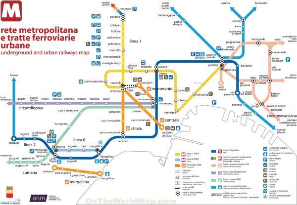 Mapa metra Neapol (klikni pro zvětšení)