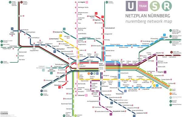 Mapa metra Norimberk (klikni pro zvětšení v plném formátu)
