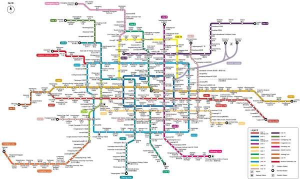 Mapa metra Peking (pro stažení klikni zde)