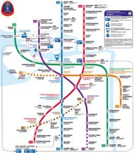 Mapa metra Petrohrad, Rusko petrohradské metro