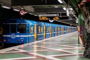 Mapa metra Stockholm vagony