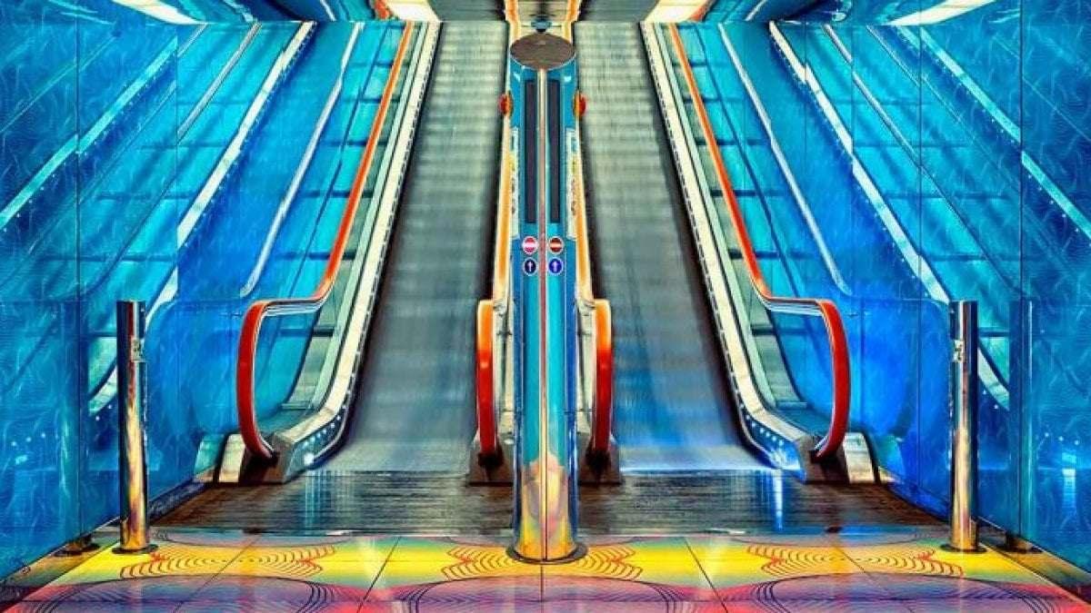 Neapol v Itálii mapa metra plánek stanice