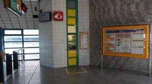 Stanice metra Luka trasa B - informační okénko Lítačka