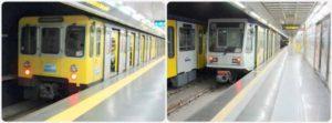Vozy metra v Neapoli Linka 1 a Linka 6