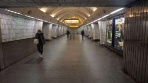 Metro Českomoravska stanice - nástupiště metra Praha