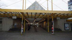 Metro Invalidova stanice - vstup do metra Praha