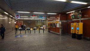 Metro Křižíkova stanice - turnikety do metra Praha