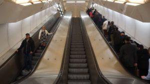 Metro Náměstí republiky stanice - eskalátory