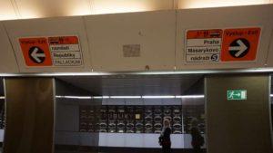 Metro Náměstí republiky stanice - rozcestník
