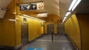 Metro Národní třída stanice - bezbariérové výtahy metra Praha