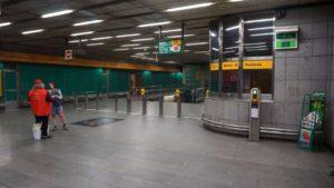 Metro Radlická stanice - turnikety