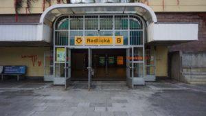 Metro Radlická stanice - vchod