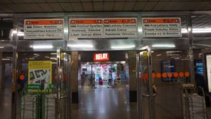 Metro Vysočanská stanice - vstup do metra Praha