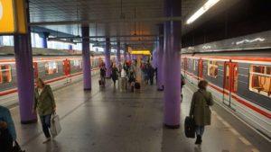 Metro Zličín stanice - nástupiště metra Praha