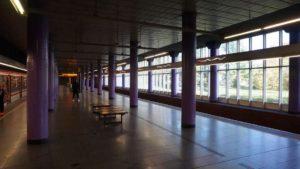 Metro Zličín stanice - perón
