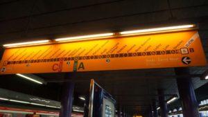Metro Zličín stanice - ukazatel mapy metra trasy B metro Praha