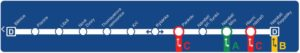 Mapa metra trasy D Metro Praha